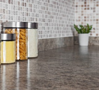 Counter Tops with Spices and Plant - Granite Counter Tops